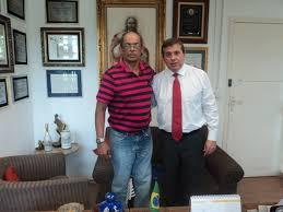 Na foto, o organizador Chimbica e o homenageado Dep Jorge Caruso