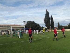 Entrada em campo arbitragem e equipes Ressaca-Pratinha