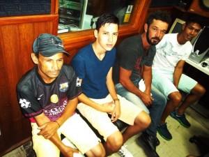 Na foto, Biquinha e Leonardo (Novorizontino), Douglas e Lucas (Campestrinho)