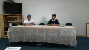 Na foto, o  secretário Du Marsulo e o presidente da LRFS Chimbica