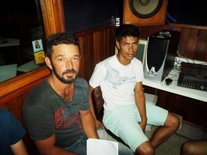 Na foto, Douglas e Porquinho, do Campestrinho, que se apresentam no Dal Bon no próximo domingoi