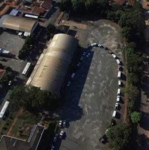 Em 2016, foi necessário utilizar um Drone para fotografar a fila de carros das entidades para retirarem os alimentos na Rádio Difusora