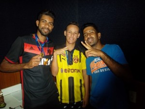 Na foto, Djalminha, Tio Bira e Rafael, do Juventus