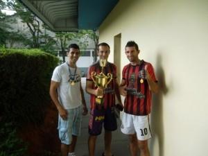 Buti, João Luis e BB, diretores  da equipe do São José Sport Botafogo
